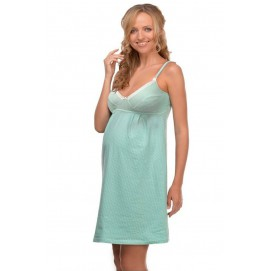 Ночная рубашка для беременных и кормления Мамин Дом Мохито арт. 24127