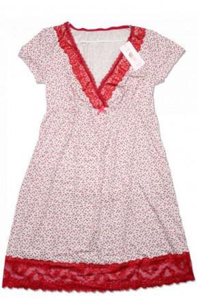 Ночная рубашка Sabina, д/к, р.46, клубничка