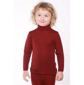 Термогольф подростковый Hocosa из шерсти и шёлка бордовый