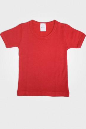 Футболка детская Hocosa из шерсти и шелка красный