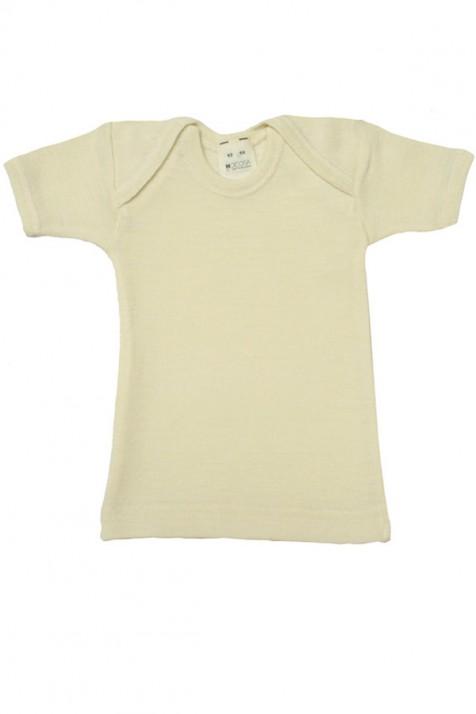 Кофточка Hocosа с коротким рукавом шелк/шерсть цвет натуральный