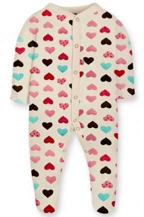 Комбинезон для новорожденных + шапочка Софія™ сердечки