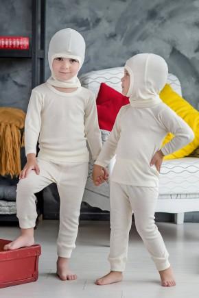 Шлем детский из шерсти мериноса Софія™ натуральный