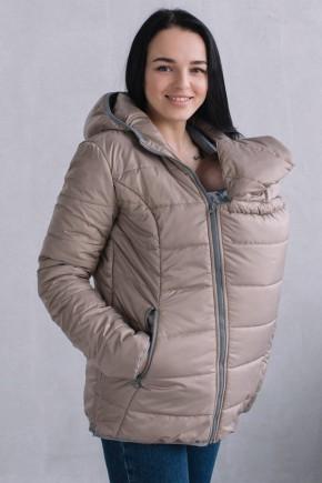 Демисезонная куртка для беременных и слингоношения 3 в 1 Love&Carry бежевая