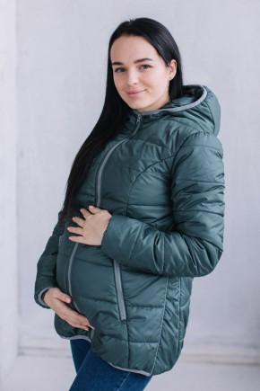 Демисезонная куртка для беременных и слингоношения 3 в 1 Love&Carry хаки