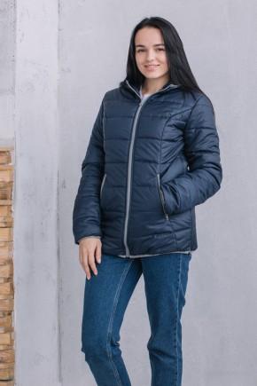 Демисезонная куртка для беременных и слингоношения 3 в 1 Love&Carry синяя