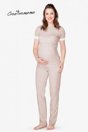 Пижама для беременных и кормящих Creative Mama Latte