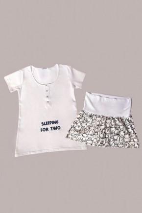Пижама для беременных и кормящих Мамин Дом 24173 Must have графити
