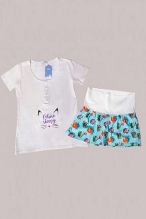 Пижама для беременных и кормящих Мамин Дом 24173 Must have Лисички