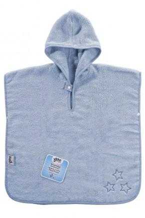 Пончо детское махровое с капюшоном XKKO Organic - Baby Blue Stars