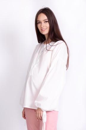 Блуза для беременных и кормящих White Rabbit Rustic молочная