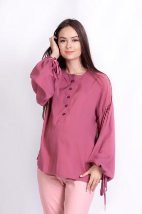 Блуза для беременных и кормящих White Rabbit Rustic темно-розовая
