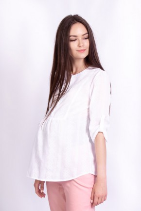 Блуза для беременных и кормящих White Rabbit Moon белоснежная
