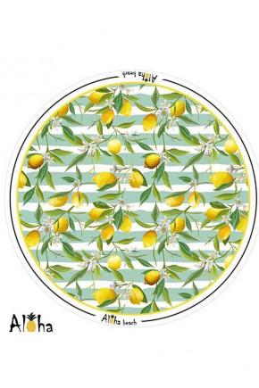 Круглое Покрывало Лимон, 150 см