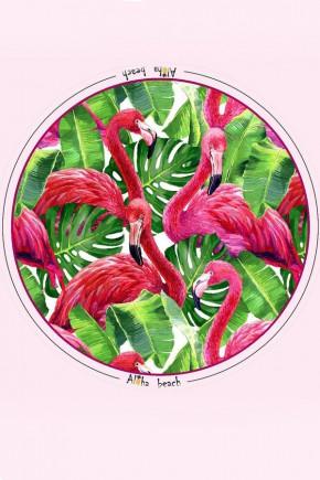 Пляжное Покрывало Фламинго, 150 см