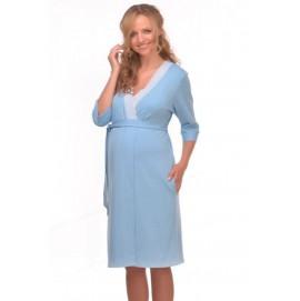 Халат для беременных и кормящих Мамин Дом Трикотажный арт. 25305 голубой