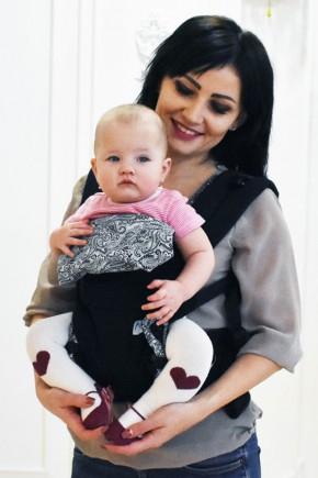 Эрго рюкзак Малышастик Світ навколо черный