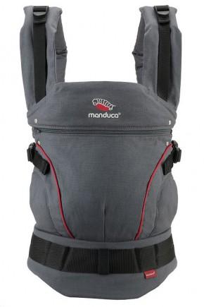 Слинг-рюкзак Manduca Hemp Cotton Grey-Red серо-красный