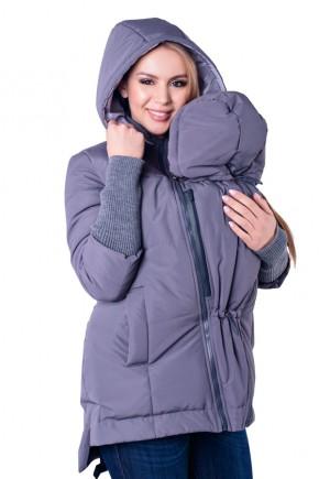 Демисезонная слингокуртка 3 в 1 для беременных Lullababe Nurmes темно-серый