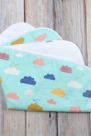 Непромокаемая пеленка 60*80 Magbaby цветные облака