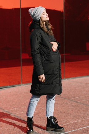 Зимняя слингокуртка 3в1 для беременных и слингоношения Love & Carry черная