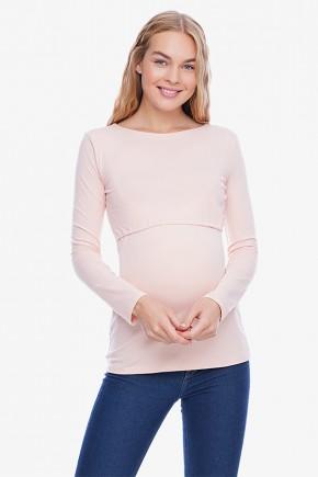 Лонгслив для беременных  и кормящих Creative Mama Urban Pudra