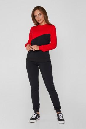 Спортивный костюм для беременных и кормящих Lullababe 080255 черный с красным