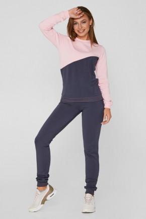 Спортивный костюм для кормящих Lullababe графит с розовым