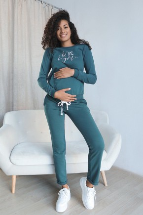 Спортивный костюм для беременных и кормящих To be 4205114-53 зеленый