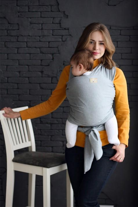 Трикотажный слинг-шарф Lullababe серый
