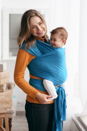 Трикотажный слинг-шарф Lullababe васильковый