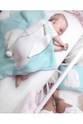 Плед для новонароджених Фламінго 70х120 вухань рожевий