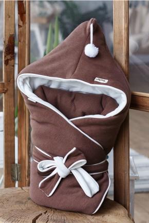 """Конверт-одеяло на выписку """"Гномик"""" MagBaby коричневый каштан"""