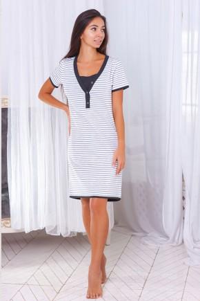 Нічна сорочка для вагітних і годуючих ZNANA Lace світло-бежева