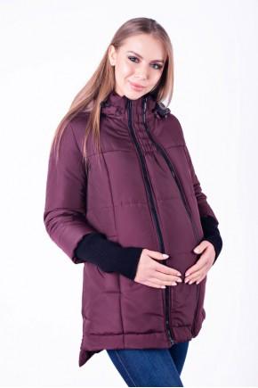Слингокуртка 3в1 еврозима для беременных Lullababe Nurmes сливовая