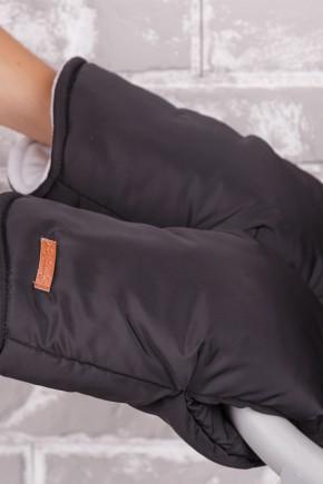Муфта на коляску з опушкою Модный Карапуз темно-бежевий