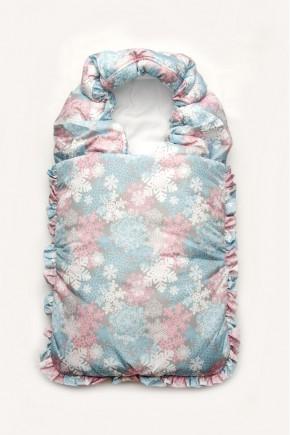 Конверт-одеяло для новорожденного Модный Карапуз серо-розовый