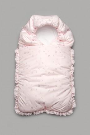 Конверт зимний для новорожденного Модный Карапуз розовый