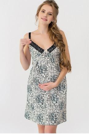 Нічна сорочка для вагітних і годуючих Creative Mama Mint