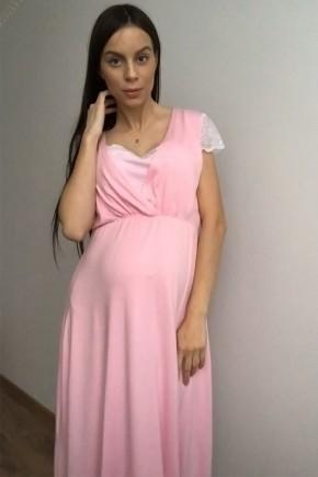 Платье домашнее для беременных и кормящих Creative Mama Celine