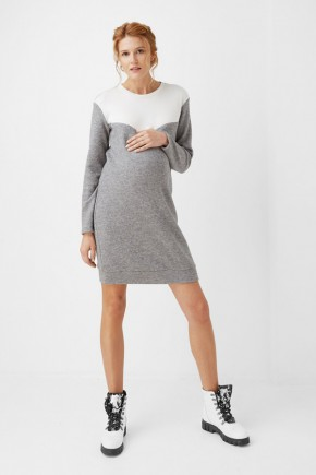 Платье для беременных и кормящих Dianora 1999 серое