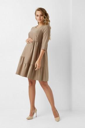 Платье для беременных и кормящих Dianora 1961 бежевое