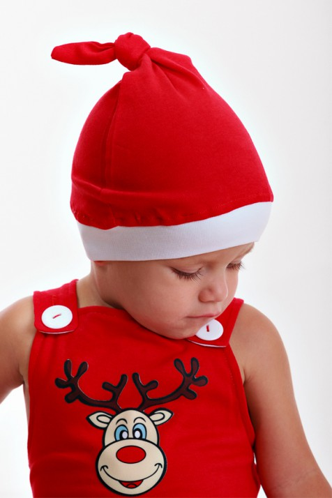 Шапочка Санта Клауса Magbaby красного цвета