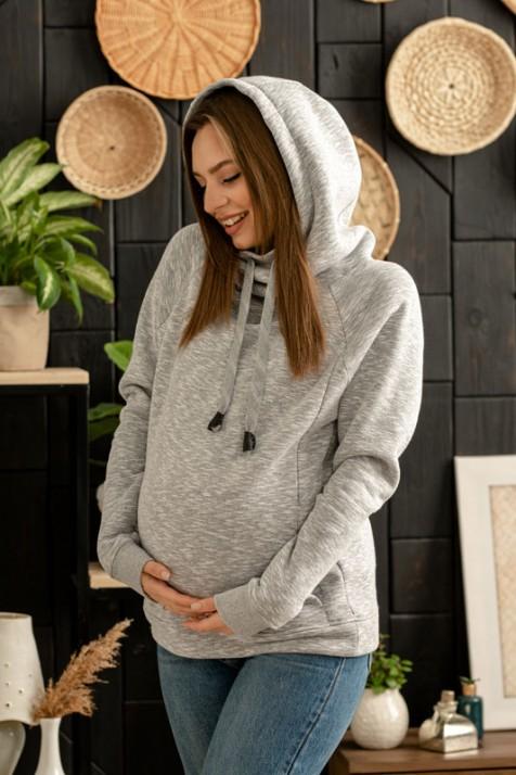 Худи для беременных и кормящих Lullababe меланж арт. 9933
