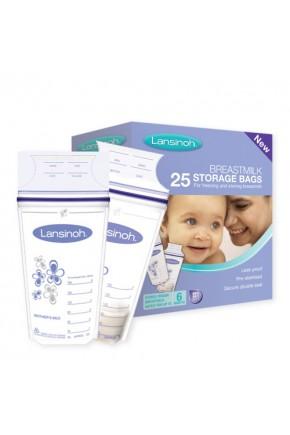 Пакеты для хранения и замораживания грудного молока  (25 шт., из полиэтилена)