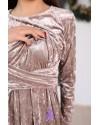 Платье для беременных и кормящих To be 4109 кремовое