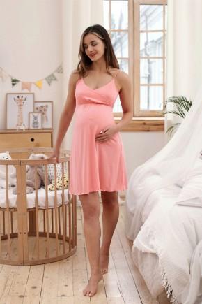 Ночная рубашка для беременных и кормящих Milk and the city Mirelle коралл
