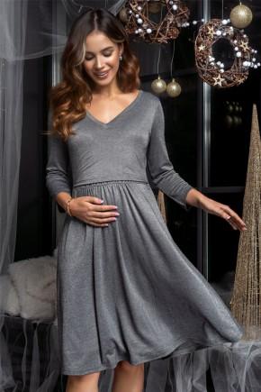 Платье для беременных и кормящих Milk and the city Shine графит