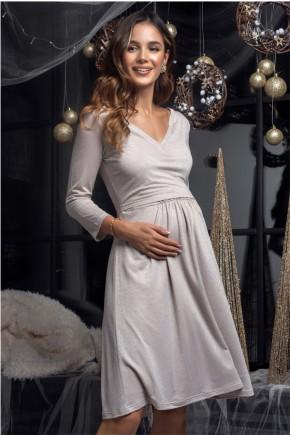 Платье для беременных и кормящих Milk and the city Shine беж