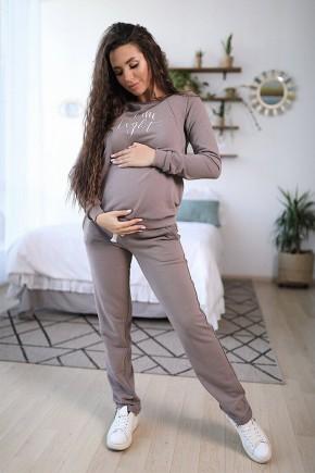 Спортивный костюм для беременных и кормящих To be 4205 мокко